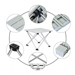 ANPI Tavolo da Campeggio Pieghevole in alluminio, Tavolino Portatile da Picnic all'aperto per Campeggio, Escursionismo, Viaggi, Pesca, Spiaggia, BBQ (S (39.5x35x32cm)) - 1