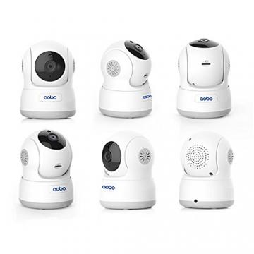 Aobo telecamera IP WiFi di sorveglianza, telecamera di sicurezza interno wireless 720p HD visione notturna telecamera di sicurezza/videocamera per bambini e animali domestici, massima 64g scheda SD - 1