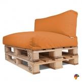 Arketicom Soft Set Cuscini Pallet BANCALI Morbidi Idrorepellente Arancione - 1