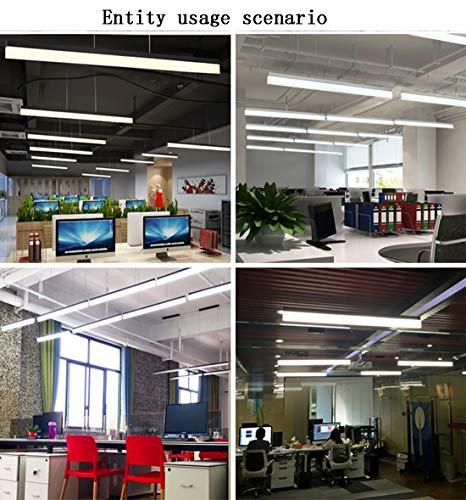 ART LAMPS Lampade a luce LED moderno semplice elegante ufficio Lampadario, adatto per lavoro camera Home Design a sospensione lampada luce sorgente, alluminio e Plexiglass acrilico soffitto lampada - 1