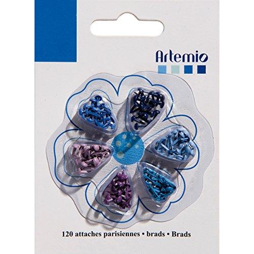 """Artemio. 12"""" Mini Brad 120/Pkg-Blues - 1"""