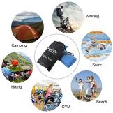 Asciugamano da Spiaggia Set 2 Pezzi| 80x160cm + 39x39cm Teli Mare in Microfibra, Asciugatura Rapida Leggeri Asciugamani per Palestra Piscine, Telo da Viaggio (Blu) - 1