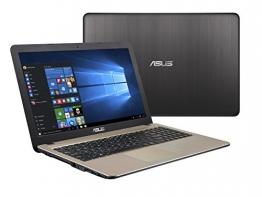"""Asus X540NA-GQ017 Notebook, Display da 15.6"""", Processore Celeron N3350, 1.1 GHz, HDD da 500 GB, 4 GB di RAM, Chocolate Black [Layout Italiano] - 1"""