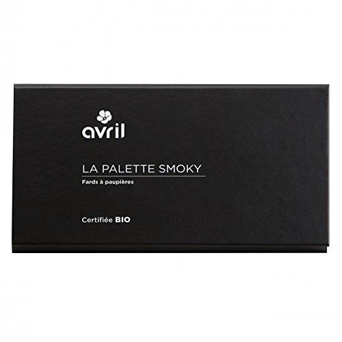 AVRIL - Palette di Ombretti Biologici SMOKY - 6 Tonalità Shimmer e Matt Per uno Smokey Look Impeccabile - Non Testato sugli Animali - Prodotto in Italia - 1
