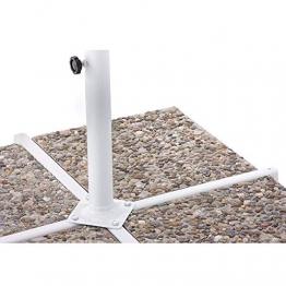 BAKAJI Ombrellone da Giardino Decentrato 3x3 Palo Alluminio Telo con Pendente Chiusura a Manovella Base a Croce Sistema Air Vent Arredamento Esterno Gazebo Giardino Terrazzo (Tortora) - 1