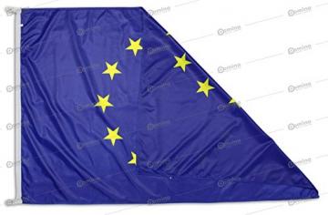 Bandiera Europa 100x70 cm in tessuto nautico antivento da 115g/m², bandiera europea 100x70 lavabile, bandiera d'Europa 70x100cm con cordino, doppia cucitura perimetrale e fettuccia di rinforzo - 1