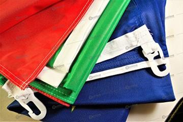 Bandiera Europa 100x70 cm in tessuto nautico antivento da 115g/m², bandiera europea 100x70 lavabile, bandiera d'Europa 70x100cm con cordino, doppia cucitura perimetrale e fettuccia di rinforzo - 2