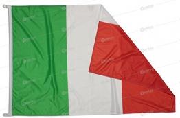 Bandiera Italia 150x100 cm in Tessuto Nautico Antivento da 115g/m², Bandiera Italiana 150x100 Lavabile, Bandiera d'Italia 150x100cm con Cordino, Doppia Cucitura perimetrale e fettuccia di Rinforzo - 1