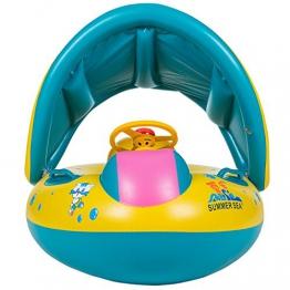 Tacobear Barca per Beb/è Bambini Sirena Gonfiabile Galleggiante Float Piscina Salvagente Gonfiabile Piscina Giocattolo Sirena con 2 Portabicchieri Gonfiabile