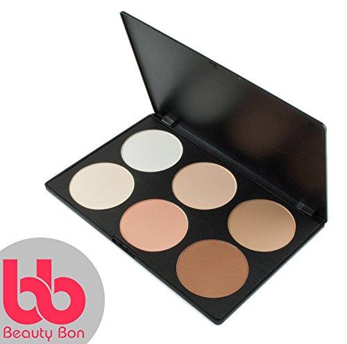 Beauty Bon, kit per contouring, 6colori professionali per contouring del viso, palette di trucchi in polvere - 1
