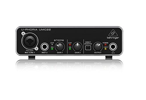 Behringer U-PHORIA UMC22 interfaccia audio 2x2 USB con PREAMP Microfonico - 1