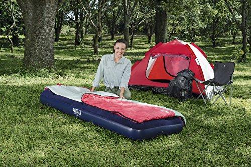 Bestway 67223 -Airbed Materasso Singolo con Pompa a Piede Incorporata, 185 x 76 x 22 cm, a Una Piazza, PVC, Blu - 1