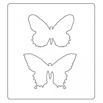 Bigz Fustella con cartella di goffratura- Duo di Farfalle di Tim Holtz - 3