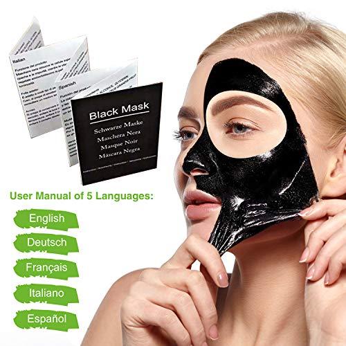 Black Mask Peel Off, Maschera Nera Punti Neri, Maschera Viso Purificante, Black Mask per Uomo e Donna, Rimozione di Comedone, Pulizia Profonda, Maschera Esfoliante e Detergente per la bellezza, 60g - 1