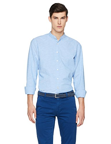 BOSS Casual Eeasy_2, Camicia Uomo, Blu (Open Blue 460), Small - 1