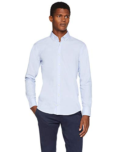 BOSS Casual Mabsoot, Camicia Uomo, Blu (Open Blue 460), Large - 1