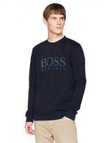 BOSS Casual Weave, Felpa Uomo, Blu (Dark Blue 404), XXX-Large - 1