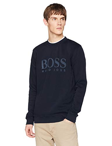 BOSS Casual Weave, Felpa Uomo, Blu (Dark Blue 404), XXX-Large - 1