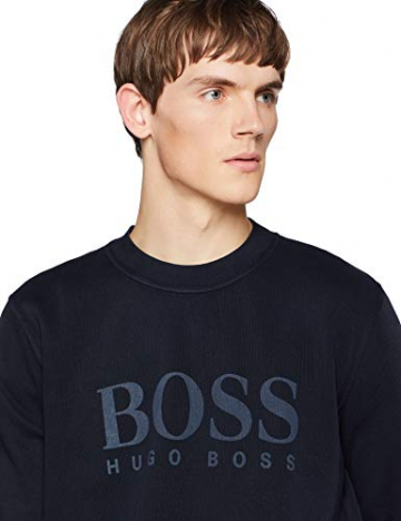 BOSS Casual Weave, Felpa Uomo, Blu (Dark Blue 404), XXX-Large - 4