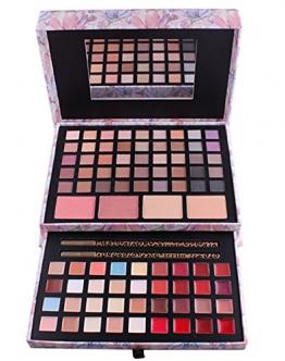 BrilliantDay set palette 85 colori per makeup cosmetici professionali, include rossetto correttore ombretti lucidalabbra fard cipria fondotinta - 1