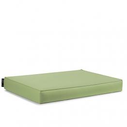 CAB BAVARO Free Lime Cuscino Seduta per BANCALE Mis. 82x122 h.11 cm DIVANETTI in Pallet di Legno Rivestimento in Ecopelle PVC - 1
