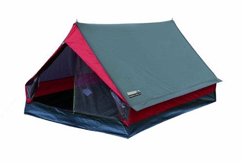 Campeggio High Peak Minipack Tenda, Grigio/Rosso, 190 x 120 x 95 cm - 1