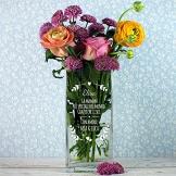 Casa Vivente Vaso da Fiori con Incisione - La Mamma più Speciale del Mondo - Personalizzato con Nomi - Vetro Trasparente - Interno ed Esterno - Decorazioni Giardino - Idee Regalo Festa della Mamma - 1
