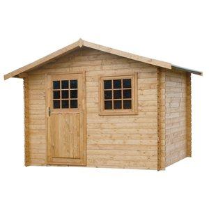 Casetta in legno blockhaus 312x210 Lucca verniciata