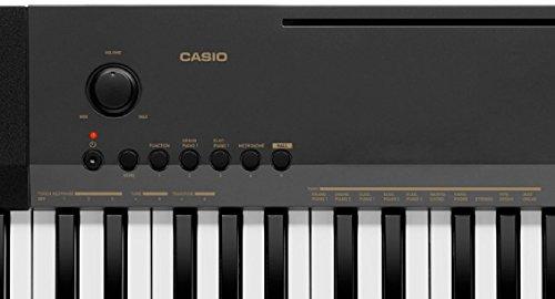Casio CDP-130BK Pianoforte digitale a 88 tasti pesati polifonica a 48 voci con 8 effetti e interfaccia USB, Nero - 1