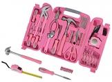 Cassetta porta attrezzi in rosa con attrezzi in rosa. Idea regalo originale per donna (Sorella, Mamma, migliore amico etc.). Divertente regalo & per inaugurazione per la casa & abitazioni - 1