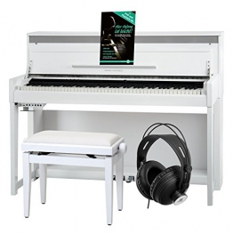 Classic Cantabile UP-1 WM Pianoforte digitale bianco opaco SET deluxe - 1