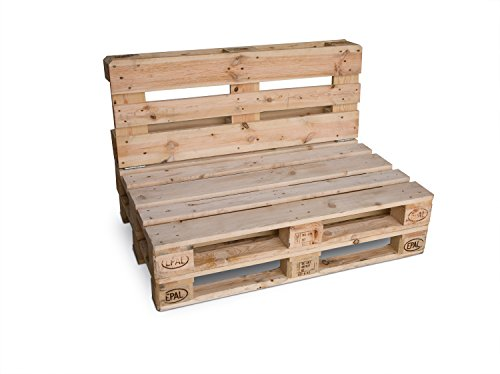 clc ARREDO Divanetto Pallet richiudibile Made in Italy - Colore Neutro Naturale - 1