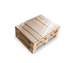 clc ARREDO Tavolino Pallet Made in Italy - Colore Neutro Naturale - 1