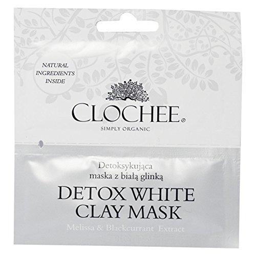 CLOCHEE - Maschera Viso Argilla Bianca Detox Clochee - Antiage, detossinante, rassodante - Con melissa ed estratto di ribes nero - Confezione da 2 bustine da 6ml - 1