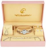 Cofanetto Orologio Donna - Parure di gioielli- Collana-Anello- Orecchini - 1