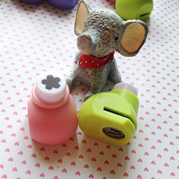 ColorJoy 1PC/Lotto Mini DIY Craft perforatore per Scrapbooking Punch Handmade Taglio della perforatrice per DIY Gift Card Paper Hole Punch, Butterfly, Taglia Unica - 1