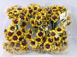 Confezione 144 pezzi-fiori, Bomboniera fiore mini girasole , x segnaposto, composizione confetti. (ck274) - 1