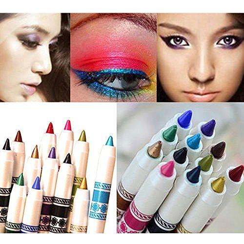 Contever® 12 Color Set di Matita per Eyeliner Eye Liner Sopracciglia Cosmetici trucco occhi - 1