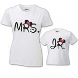Coppia di T-Shirt Magliette Mamma E Figlio/Figlia Idea Regalo Festa della Mamma Mini Me T-Shirt Bianche Mamma e Femminuccia Donna M - Bimbo 1-2 Anni - 1