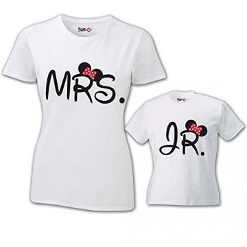 Coppia di T-Shirt Magliette Mamma E Figlio Idea Regalo Festa della Mamma Me And Mini Me Grigie