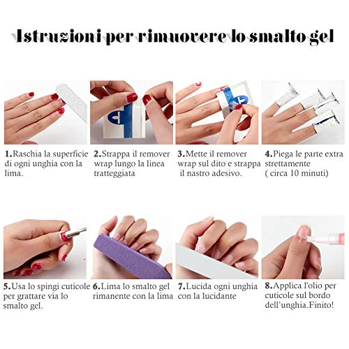 Coscelia Kit Nail Art 4pc Smalto in Gel Semipermanente Lampada LED Fornetto unghie Attrezzi per unghie Nail art decorazioni regali natale - 1