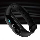 CplaplI Orologi Bracciale Smart, Sport Pressione sanguigna Battito Cardiaco Smart Watch Braccialetto Fitness Tracker-Nero - 1
