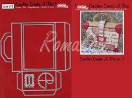 Crealies Set da 4 Fustelle Create a Box Valigetta compatibili con Big Shot - 1