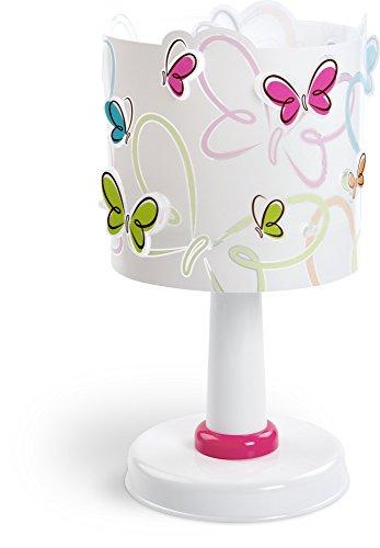 Dalber 62141 - Lampada con paralume decorato con farfalle variopinte - 1