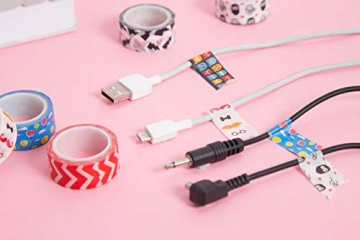 Decorativo Washi tape 48rotoli di nastro adesivo, larghezza 15mm per fai da te scrapbooking ufficio party supplies regalo - 5