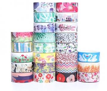 Decorativo Washi tape 48rotoli di nastro adesivo, larghezza 15mm per fai da te scrapbooking ufficio party supplies regalo - 2