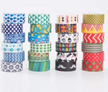 Decorativo Washi tape 48rotoli di nastro adesivo, larghezza 15mm per fai da te scrapbooking ufficio party supplies regalo - 3