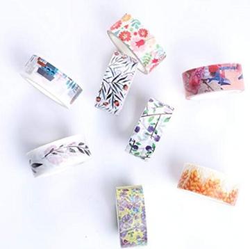 Decorativo Washi tape 48rotoli di nastro adesivo, larghezza 15mm per fai da te scrapbooking ufficio party supplies regalo - 4