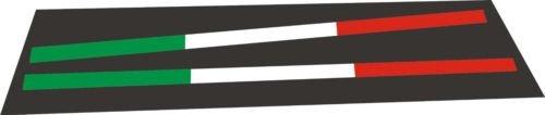 Designstudio Fritsche - Adesivo per targa dell'auto, bandiera italiana, 2 pezzi, adatto per la pubblicità di autosaloni - 1