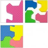 Deuba Tappeto Puzzle 1,92 x 1,92m Nuovo Modello Gomma Eva Resistente Isolante Lavabile Gioco per Bambini Tappeto da Gioco - 1